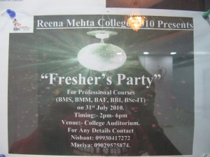 Fresher's Party @ Reena Mehta College