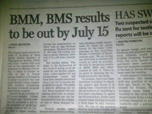 TYBMS Sem 6 2011 Results to be declared by July 15